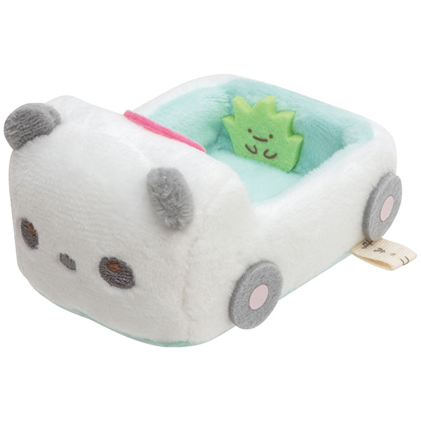 Sumikko Gurashi mini Tenori Plush Doll Panda Car Animal Park San-X Japan