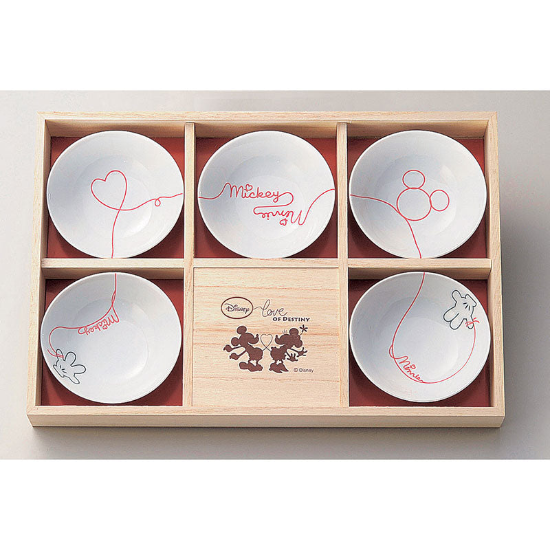 Mickey & Minnie Small Bowl Set LOD Disney Store Japan Gift Box