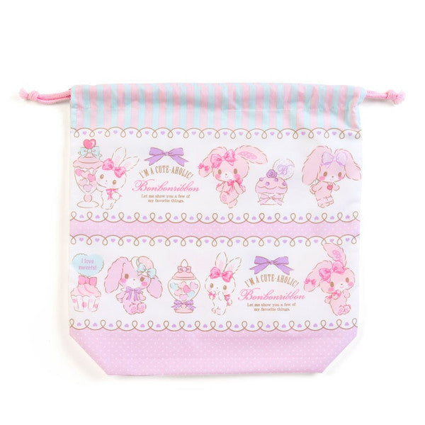 Bonbonribbon Drawstring Bag Pouch with Gusset Party Sanrio Japan