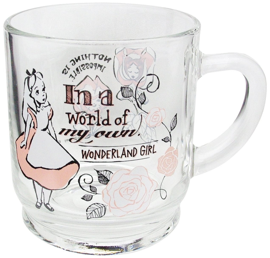 Alice in Wonderland Aderia Glass Mug Cup Box Disney Japan 300ml