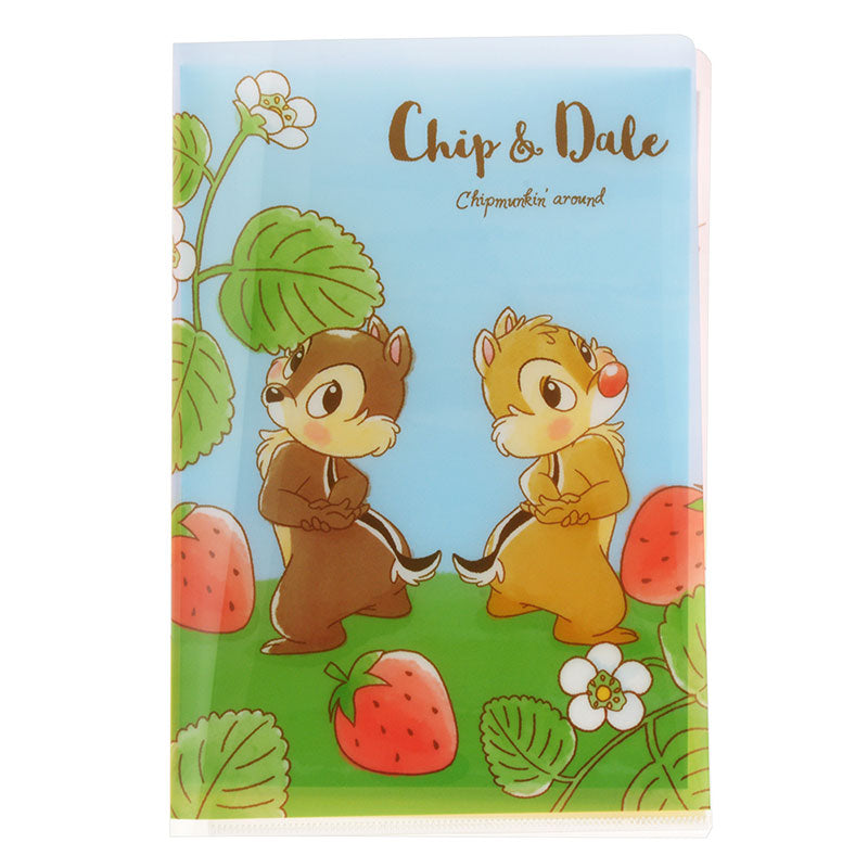 Chip & Dale Letter Set with File Folder Foodie Disney Store Japan