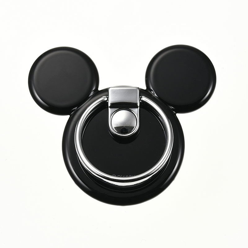 Mickey Smartphone Ring Icon Jet Black Disney Store Japan