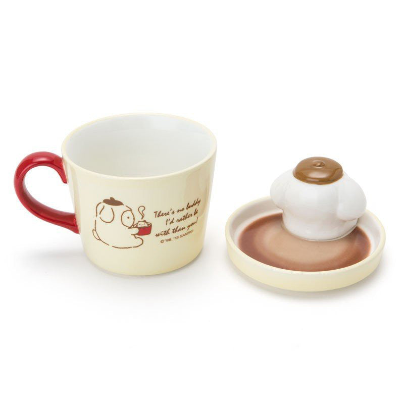 Pom Pom Purin Mug Cup with Lid Stay Up Late Sanrio Japan
