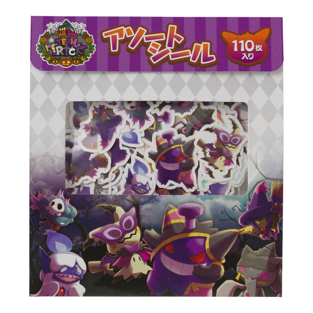 Assorted Flake Sticker We Are TEAM TRICK Halloween 2018 Japan Pokemon Center