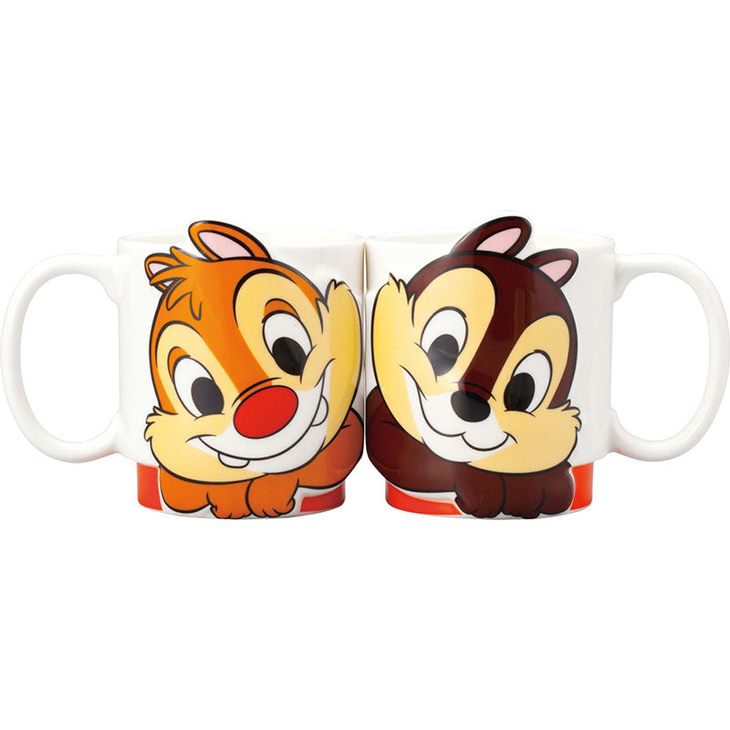 Chip & Dale Mug Cup LOVE Pair Disney Store Japan