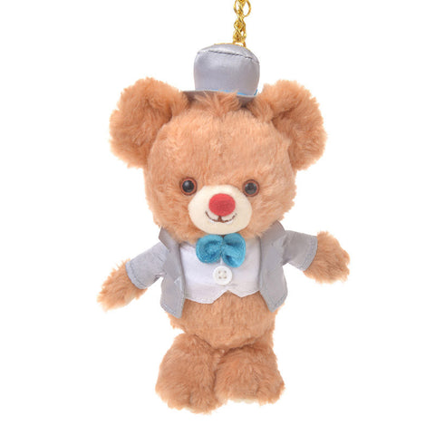 UniBEARsity Blanc Dale Plush Keychain 7th Anniversary Top Hat Disney Store Japan