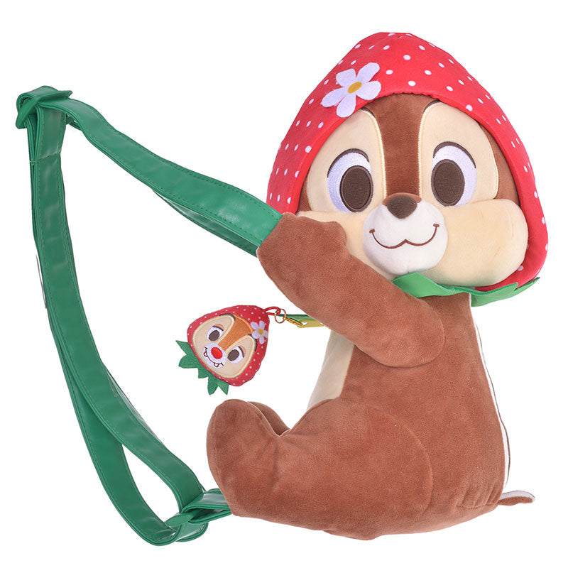 Chip & Dale Plush Backpack Strawberry Ichigo Zakka Disney Store Japan