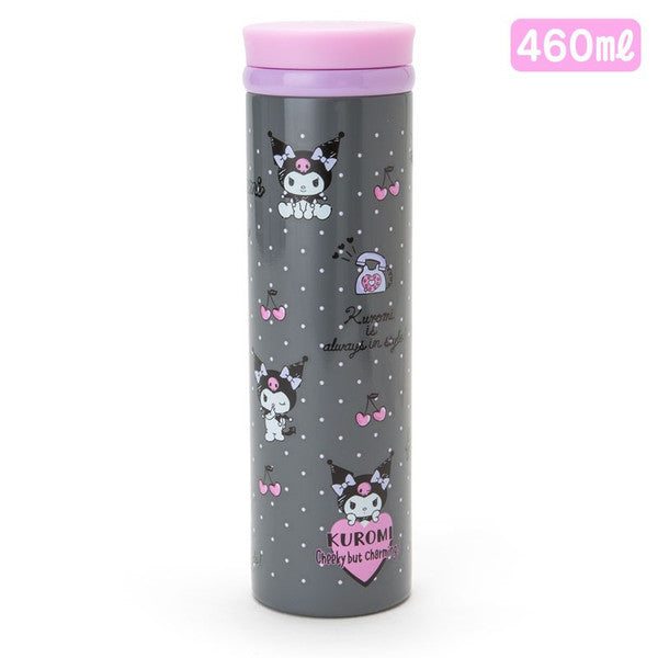 Kuromi Stainless Bottle Tumbler L Dot 460ml Sanrio Japan