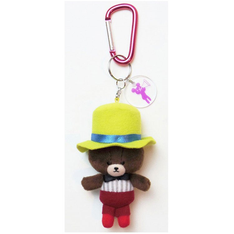 Jackie Plush Mascot Keychain Carabiner Party Hat Yellow the bears' school Japan