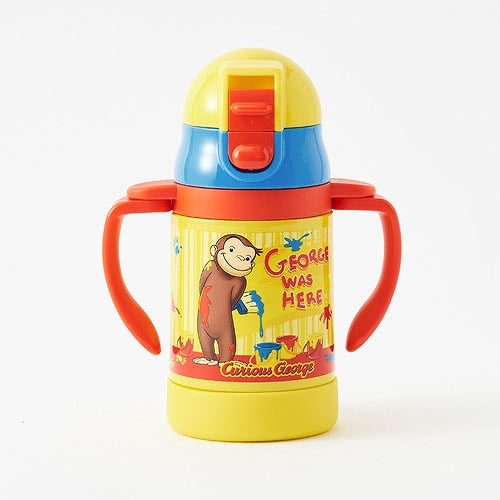 Curious George Stainless Training Straw Mug Cup Baby Japan Skater STWM3