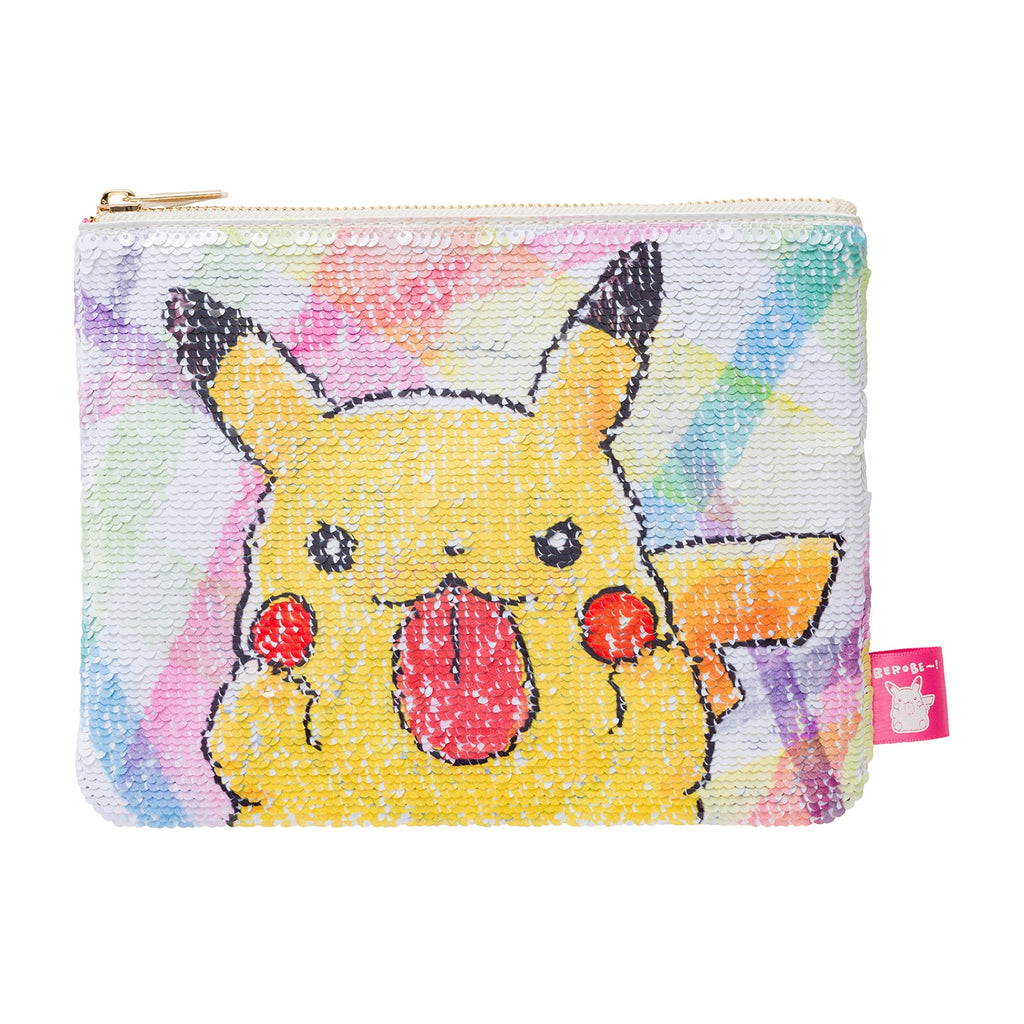 Pikachu & Yamper Wanpachi Flat Pouch BEROBE~! Pokemon Center Japan