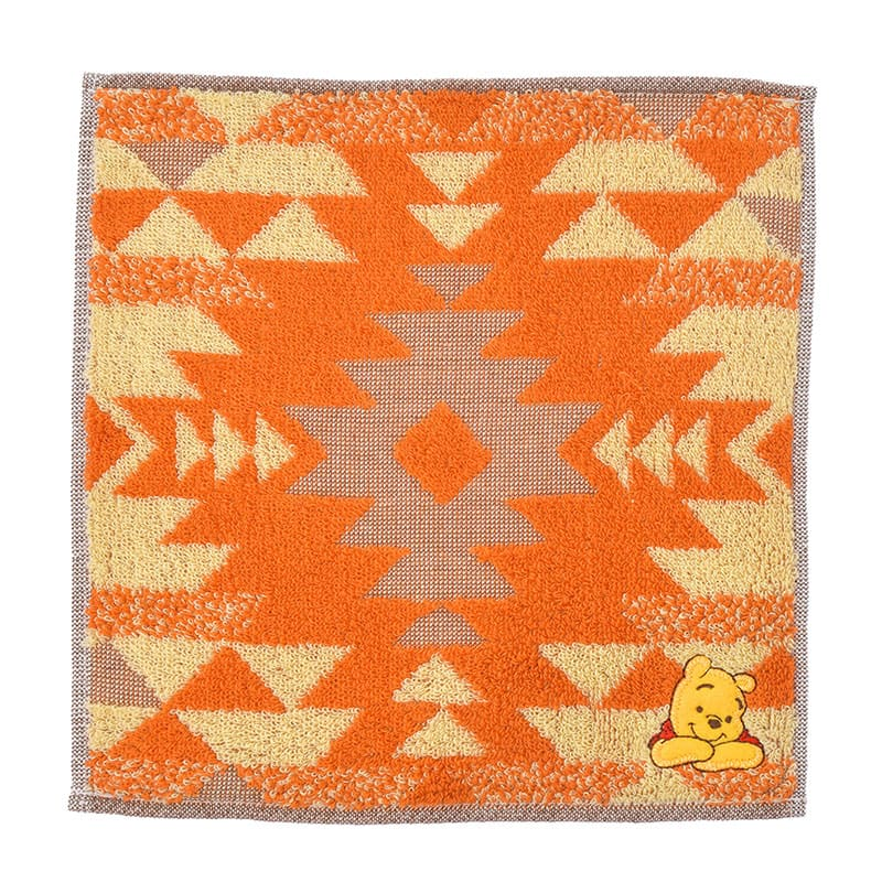 Winnie the Pooh mini Towel Kilim pattern Disney Store Japan