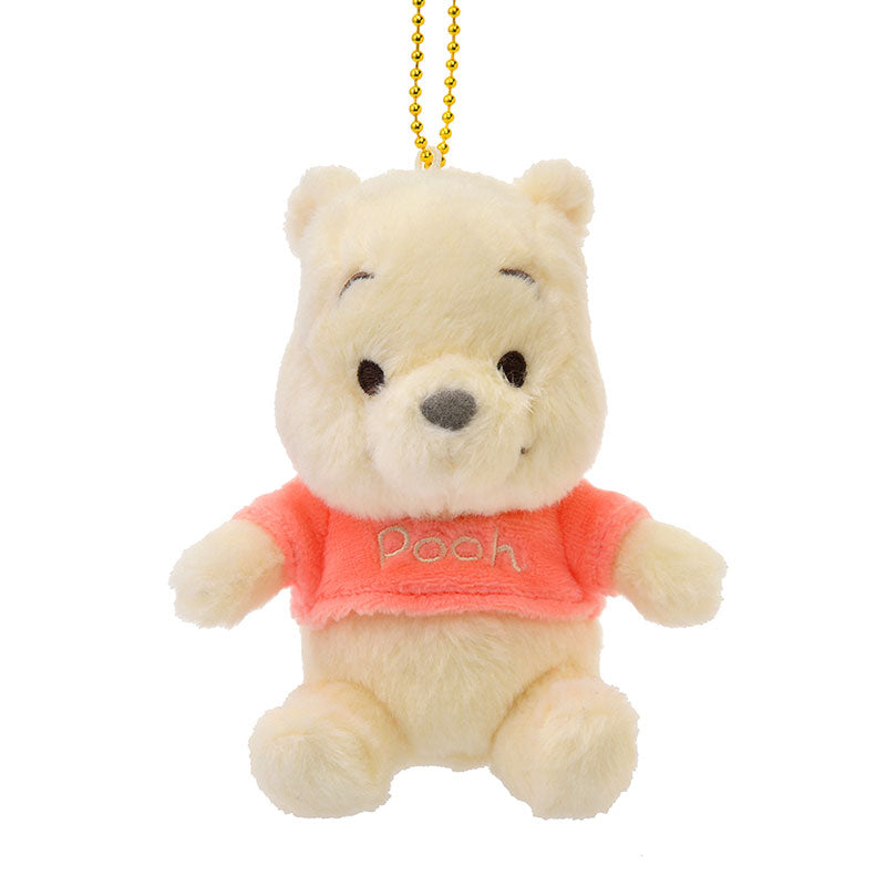 Winnie the Pooh Plush Keychain Sherbet Color Disney Store Japan