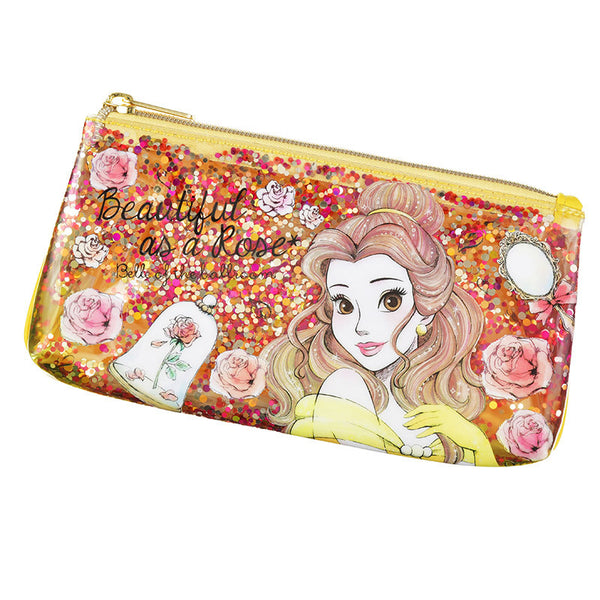 Belle Pen Case Pencil Pouch Confetti urukira Glitter Disney Store Japan