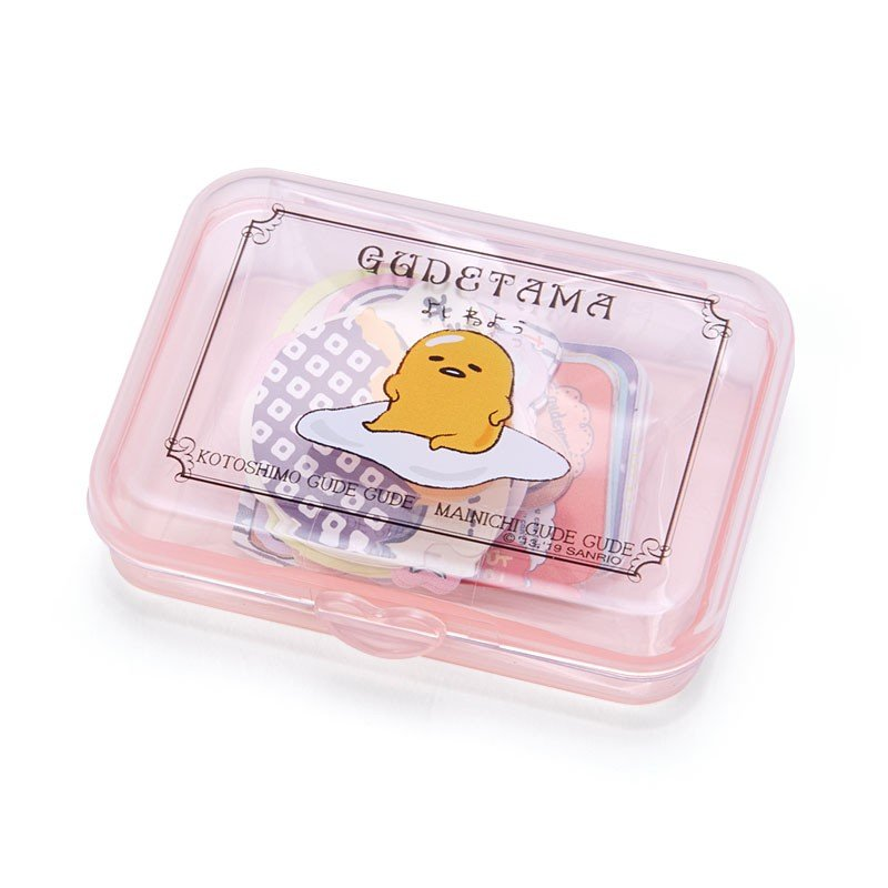 Gudetama Egg Sticker in Plastic Case Sanrio Japan