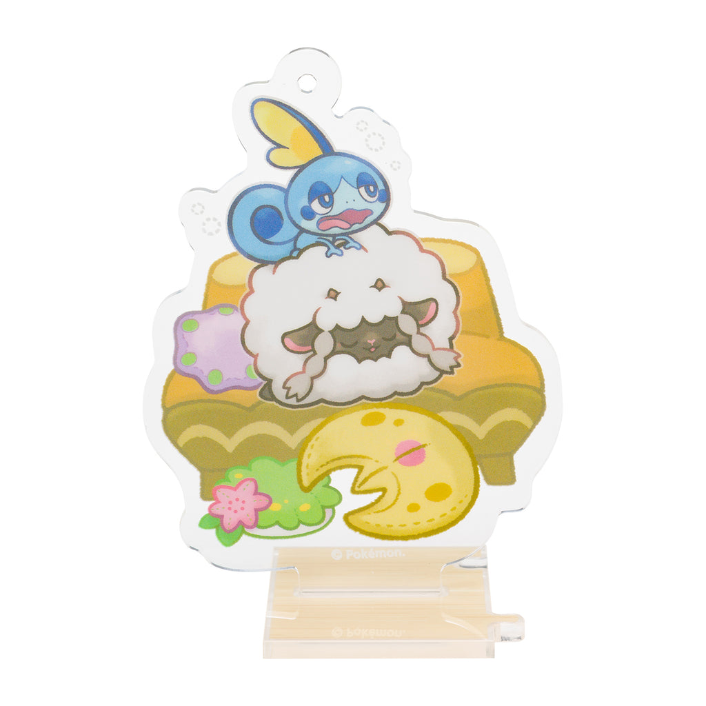 Sobble Messon & Wooloo Wooluu Acrylic Charm Snorlax Yawn Pokemon Center Japan