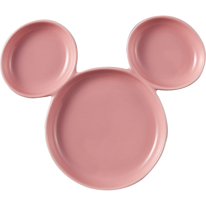 Mickey Porcelain Plate Pink Disney Store Japan