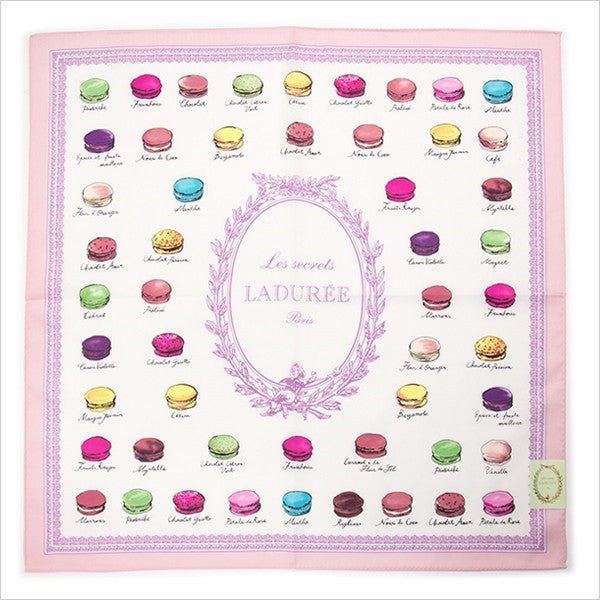 Handkerchief Macaron Pink Laduree Japan