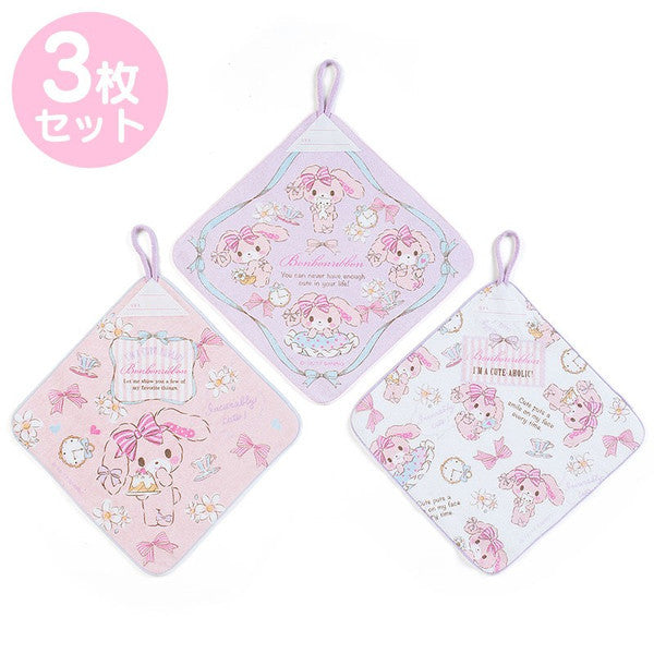 Bonbonribbon Hand Towel with Loop Cake 3pcs Set Sanrio Japan