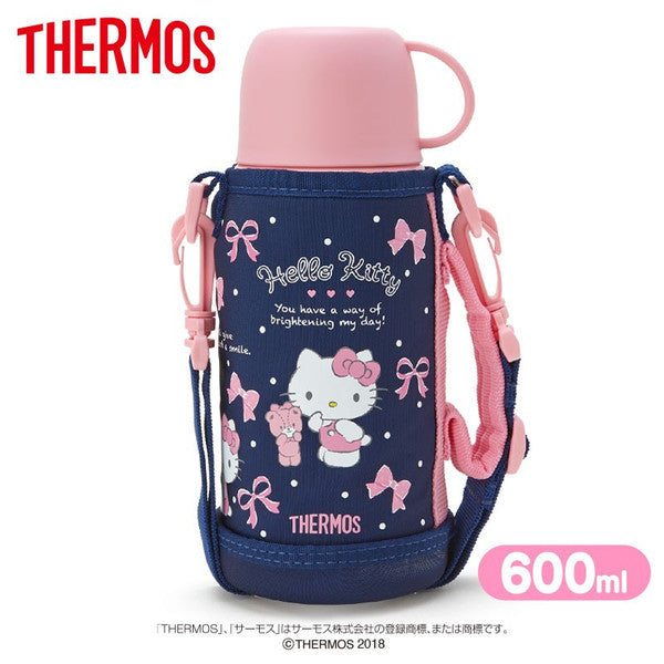 Hello Kitty 2WAY Stainless Bottle Tumbler Pink Navy Sanrio Japan Thermos