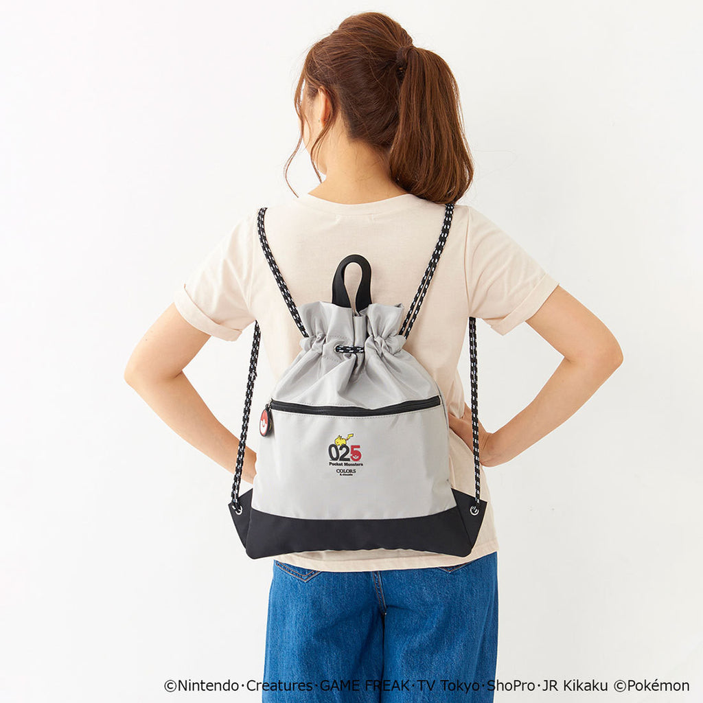 Pikachu Knapsack Number Gray COLORS & chouette Pokemon Samantha Thavasa Japan