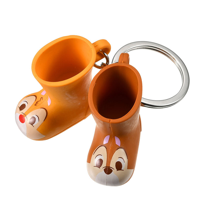 Chip & Dale Keychain Key Holder Rain Boot Disney Store Japan