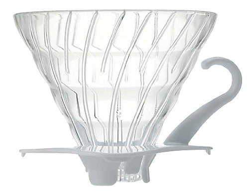 Hario Japan VDG-02W V60 Glass Coffee Dripper White 1-4 cups