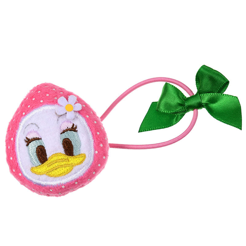 Daisy Plush Ponytail Holder Strawberry Ichigo Zakka Disney Store Japan
