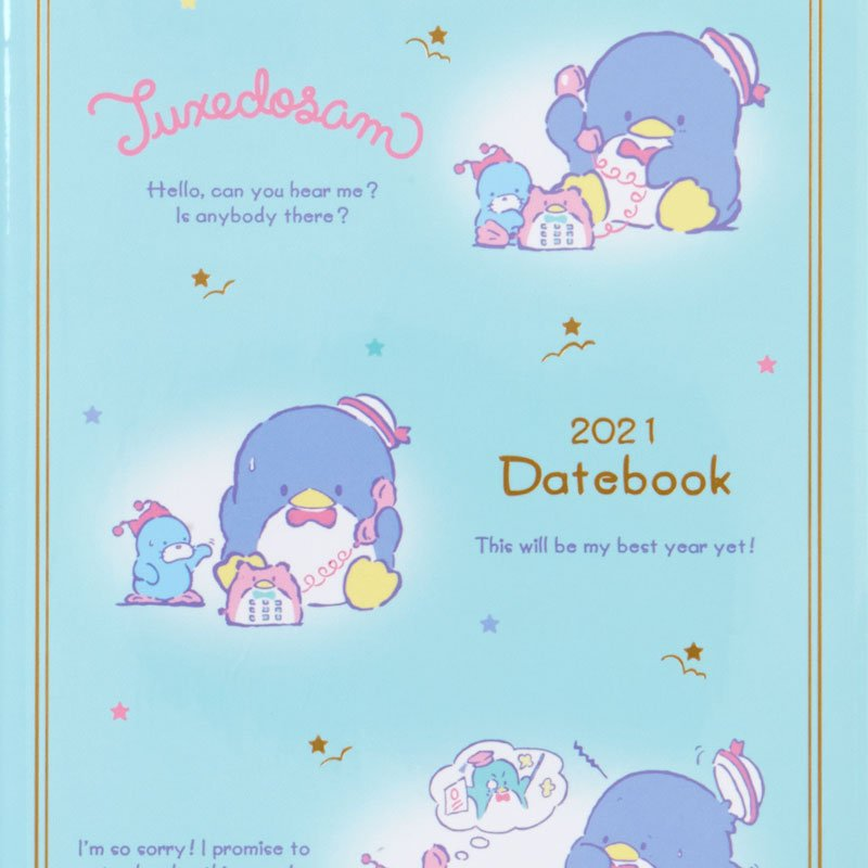 Tuxedosam 2021 Schedule Book B6 Monthly Sanrio Japan
