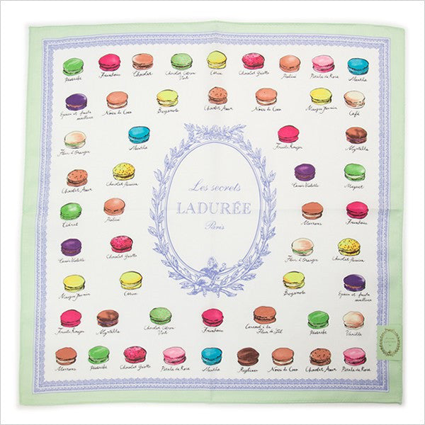Handkerchief Macaron Green Laduree Japan