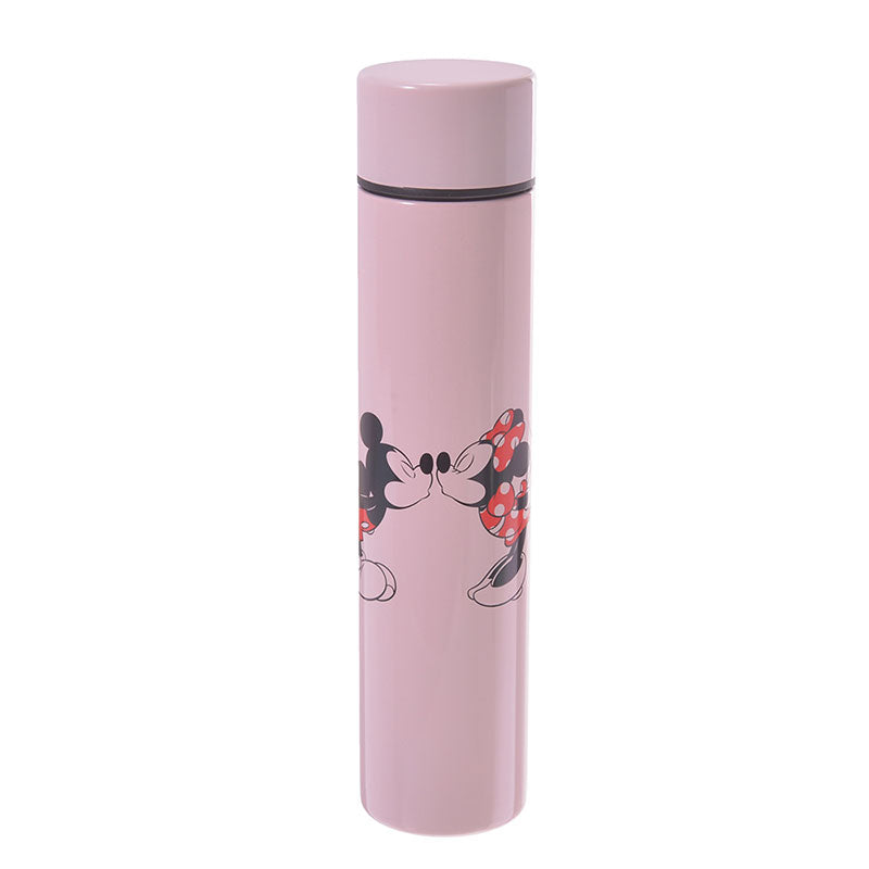 Mickey & Minnie Stainless Bottle 170ml Lipstick Pink Disney Store Japan