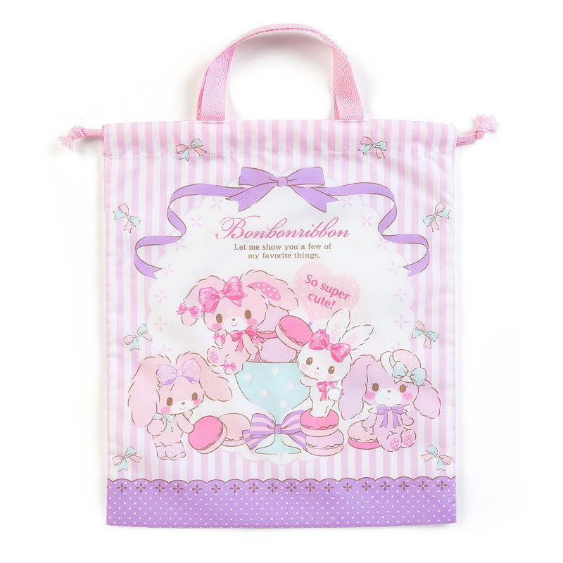 Bonbonribbon Drawstring Pouch Party with Handle Sanrio Japan