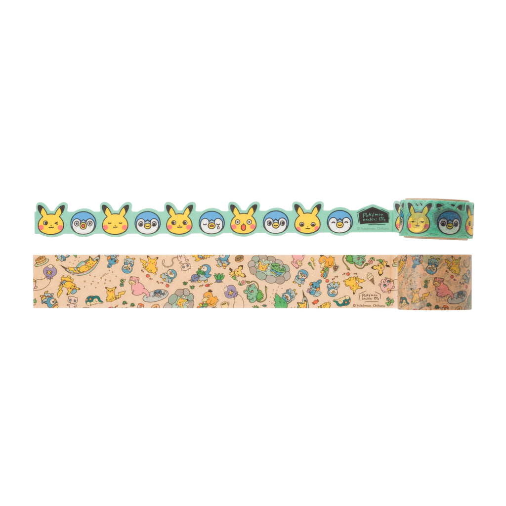 Masking Tape 2pcs Set 20mm 30mm Relax Life Pokemon Center Japan Original