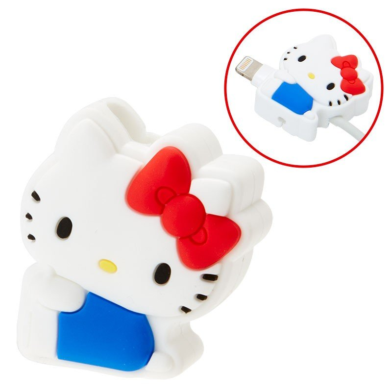 Hello Kitty Cable Protection for iPhone Red Sanrio Japan Cross type