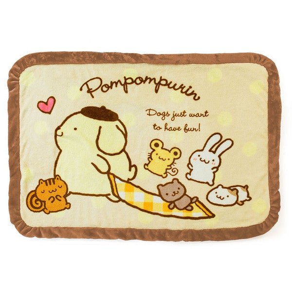 Pom Pom Purin Boa Blanket Dot Sanrio Japan