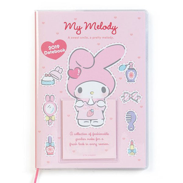 My Melody 2019 Schedule Book B6 Monthly Dress up Calendar Sanrio Japan