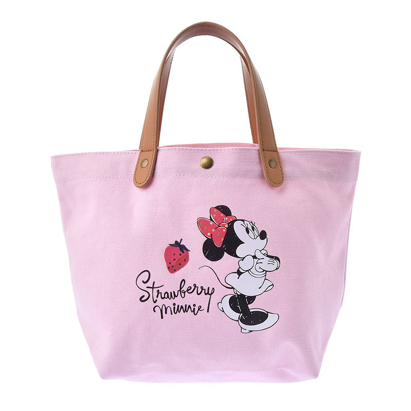 Minnie mini Tote Bag Strawberry Pink Ichigo Lifestyle Disney Store Japan
