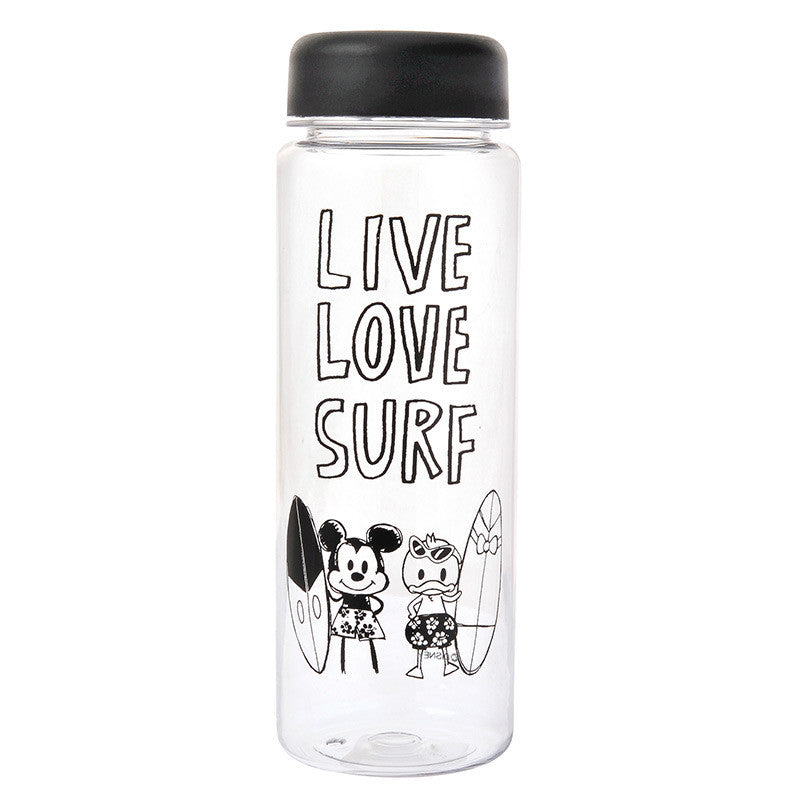 Graffiti Mickey & Donald Tumbler Water Bottle Clear Disney Store Japan