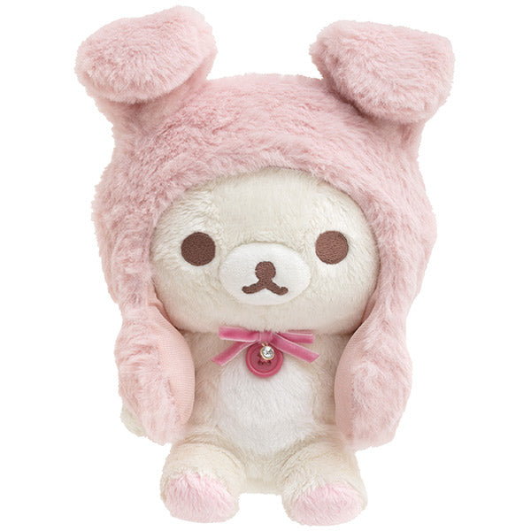 Korilakkuma Plush Doll Pyoko Ear Moving Rabbit Tea Time San-X Japan