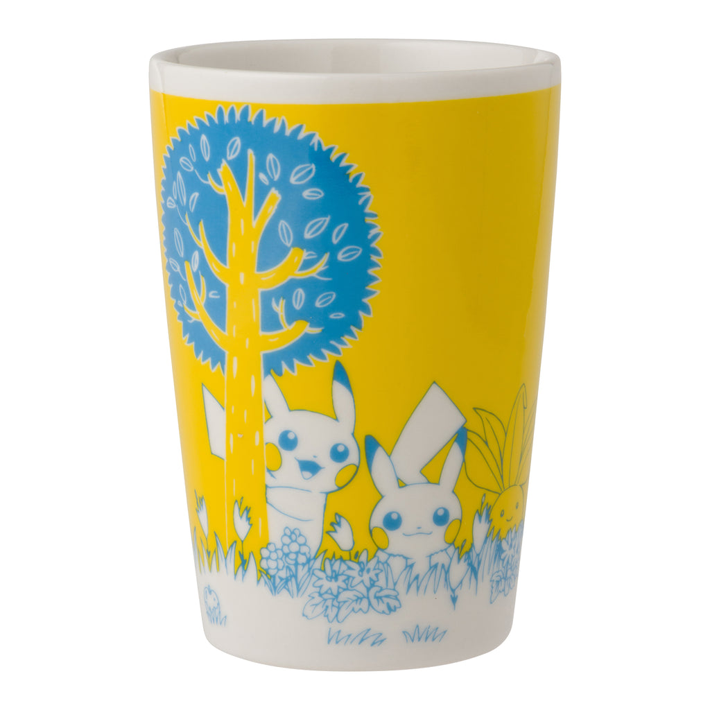Tall Mug Cup Yellow Pikachu in the forest Pokemon Center Japan Oroginal