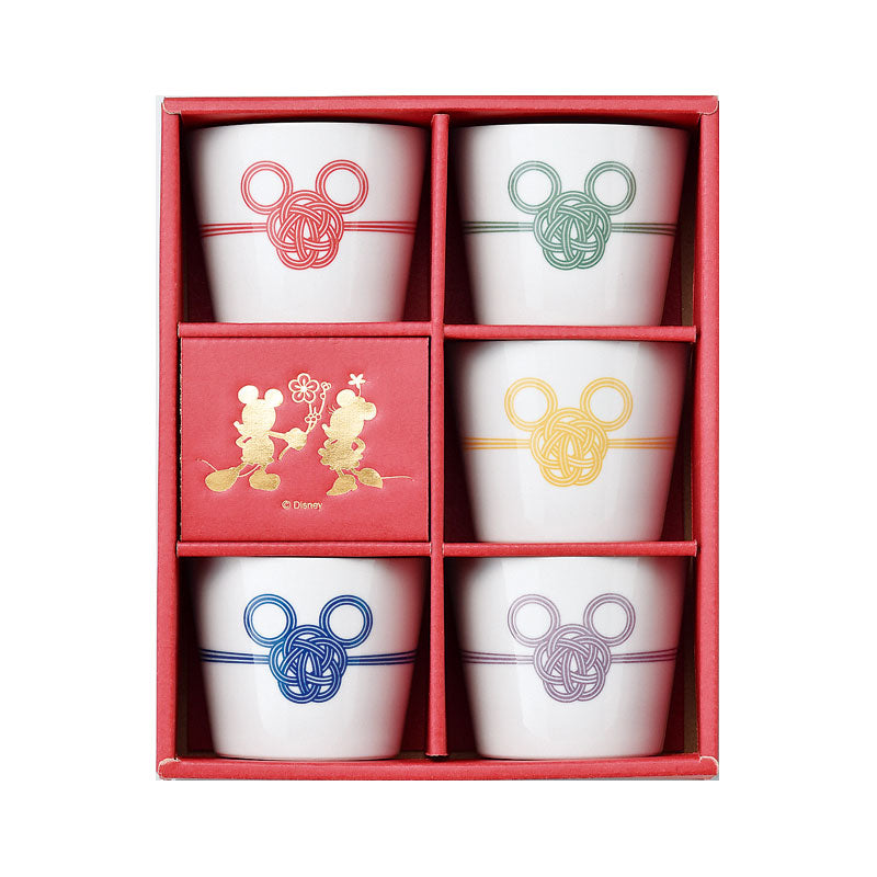 Mickey Soba Choko Bowl Set Disney Store Japan Gift Box