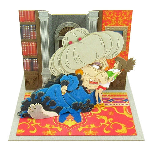 Spirited Away Sen & Yubaba Miniature Art Paper Craft Non-Scale Kit Ghibli Japan