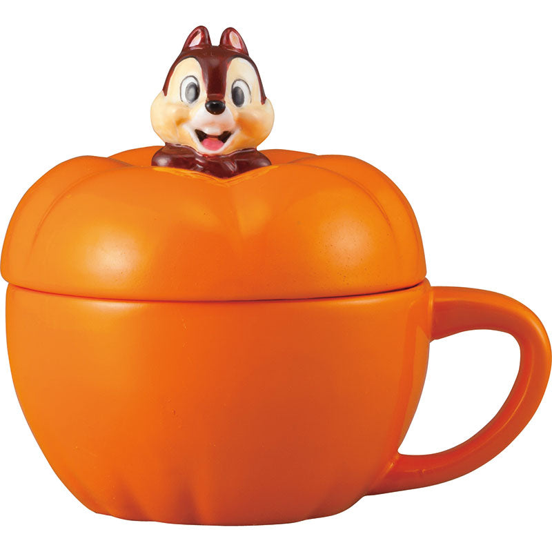 Chip Porcelain Soup Mug Cup Pumpkin Disney Store Japan
