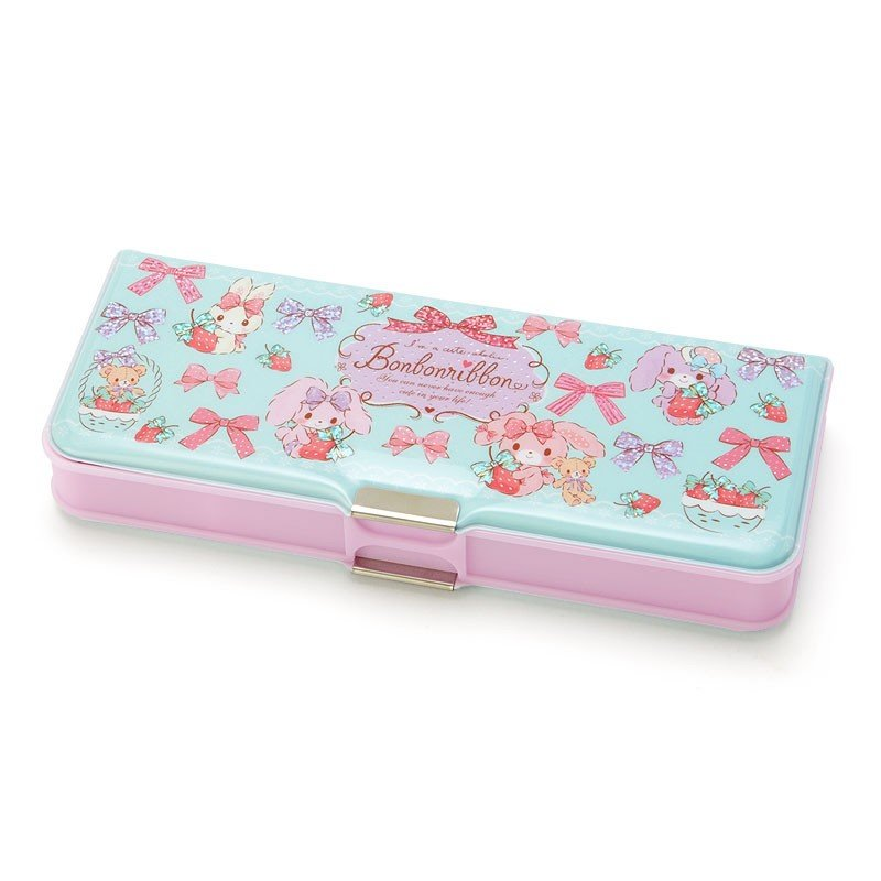 Bonbonribbon Double Side Opening Pen Case Strawberry Sanrio Japan
