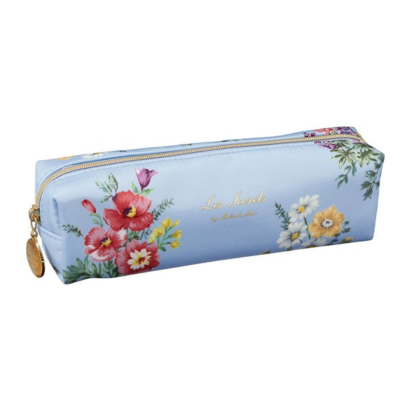Pen Case Pencil Pouch Bouquet de Fleur Blue Gray Laduree Japan Flower