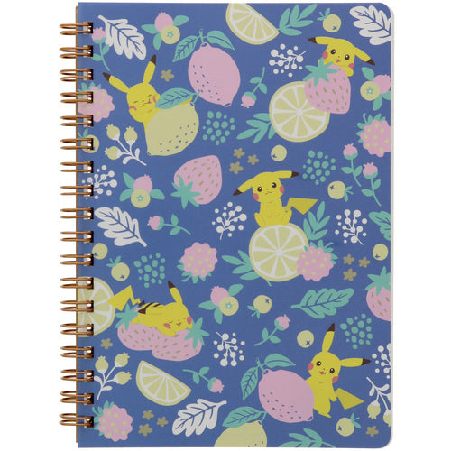Pikachu drawing Ring Notebook B6 PD3 Fruits Pokemon Center Japan Original