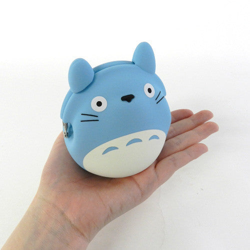 My Neighbor Totoro Silicon Clasp Pouch Blue Studio Ghibli Japan