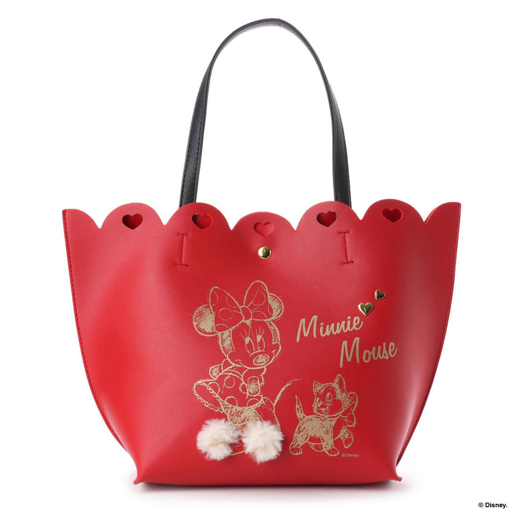Minnie Tote Bag Red Heart Floral Corolle D23 Disney COLORS by Jennifer sky Japan