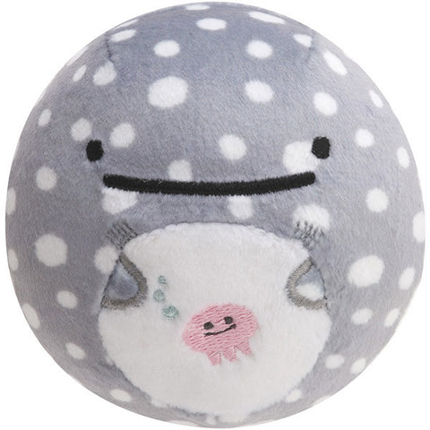Jinbei San Whale Shark Round Plush Doll Face Gray Super Soft Mocchi San-X Japan