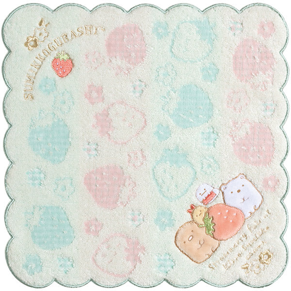 Sumikko Gurashi mini Towel Blue Pink Strawberry Fair San-X Japan
